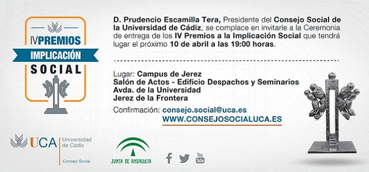 IV Premios a la Implicación Social del Consejo Social de la UCA